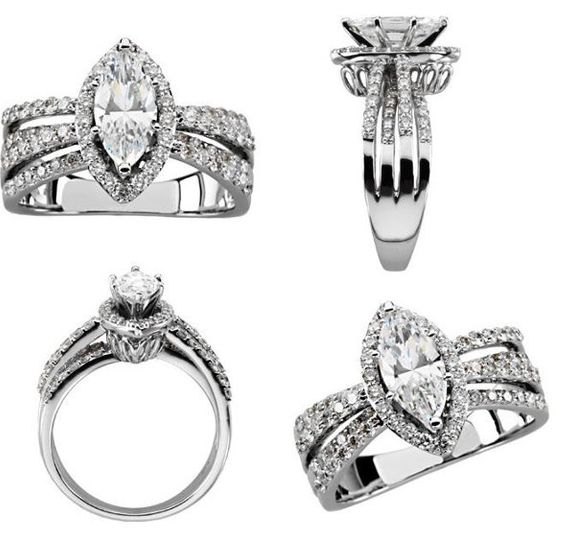 A unique engagement ring with plenty of bling!