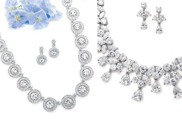 fabulouse genuine CZ bridal sets