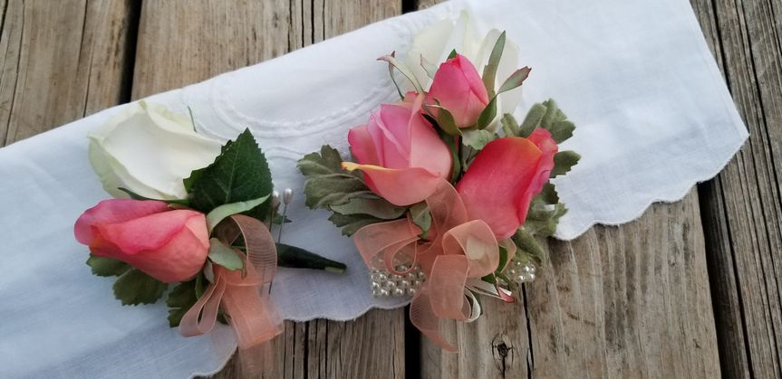 Real touch corsage and bout
