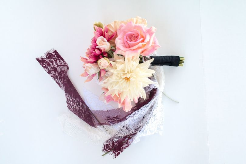 Real touch bridal bouquet