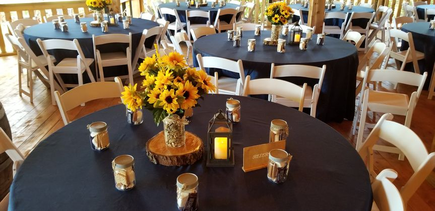 Vineyard centerpieces