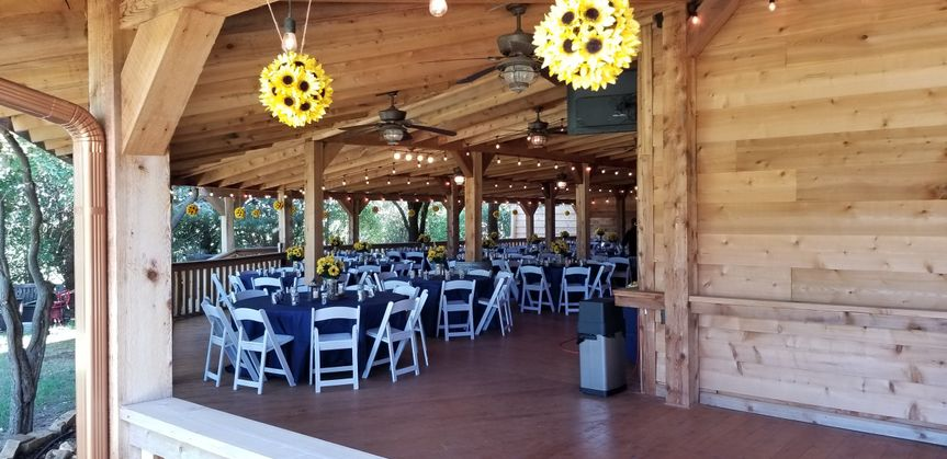 Vineyard wedding reception