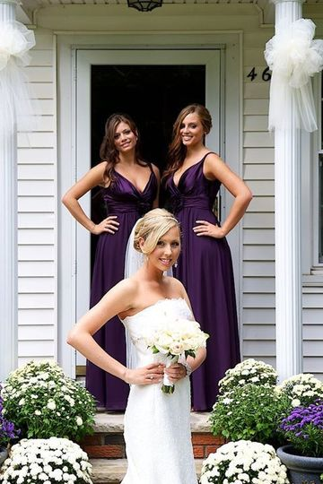 The bride and the girls