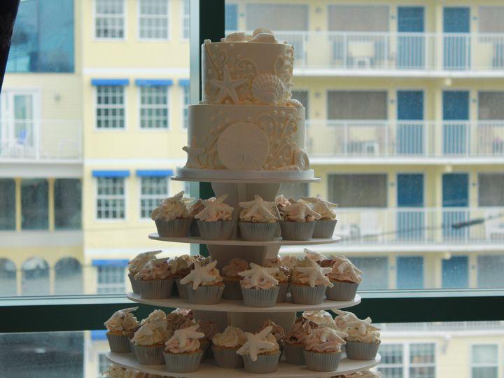 Tmx 1453051775343 Closeup Seashell Lewes, DE wedding cake