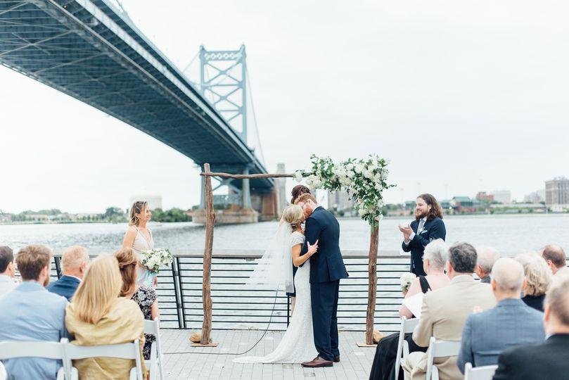 allie jeremy race stret pier wedding phi