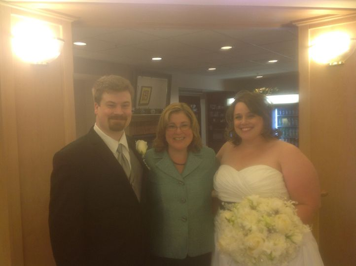 With the happy couple