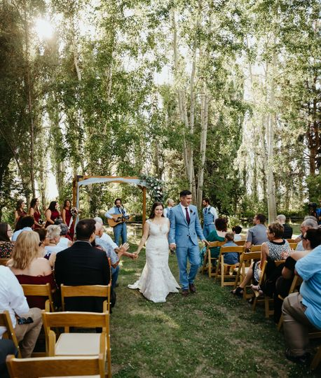 Backyard farm wedding venue