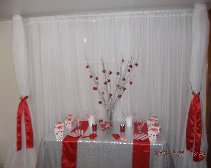 Valentine's Day Sweetheart Table and Backdrop (Hyattsville, MD)