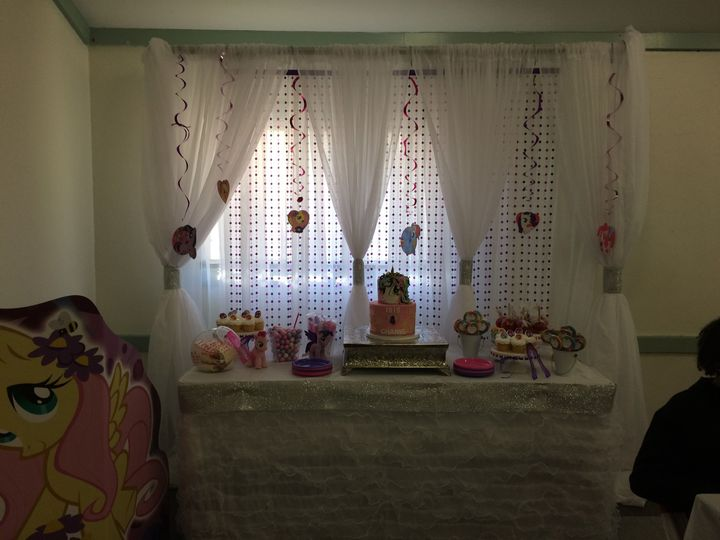 My Little Party Themed Backdrop with dessert table (Hyattsville, MD)