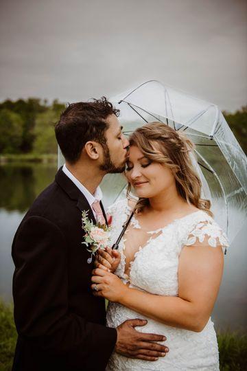 Rainy day kisses