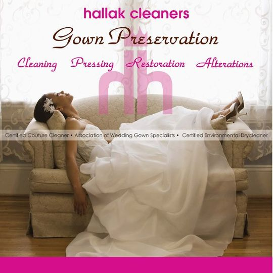 Hallak Cleaners is your answer for your pre and post wedding needs. Alterations, gown cleaning,...