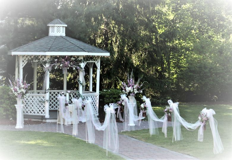 Gazebo with florals