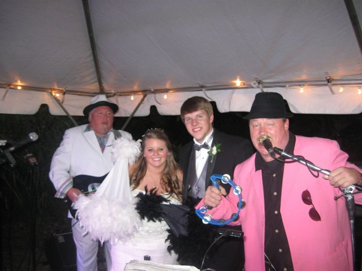 Couple with Chicken on the Bone Wedding and Party Band