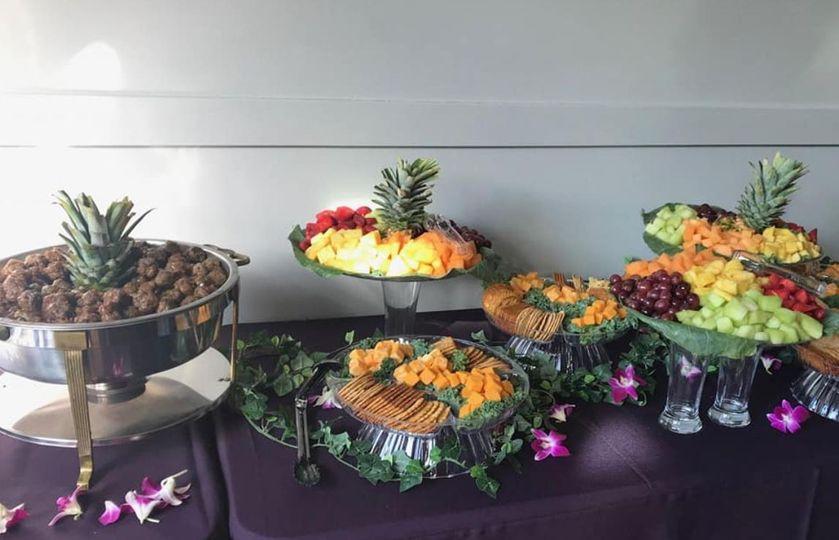 A reception spread