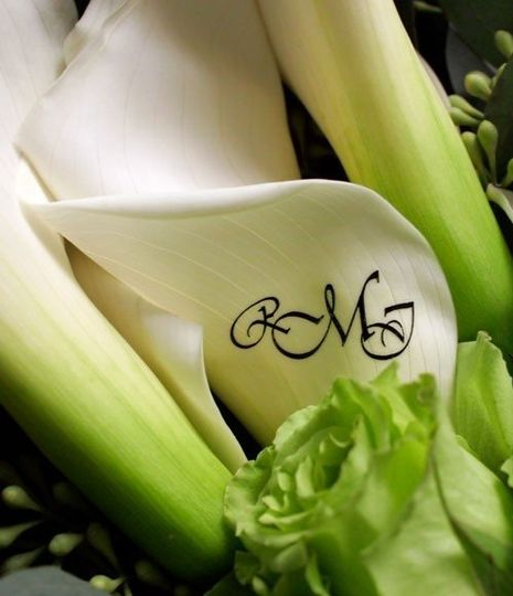 Monogrammed Calla Lilly