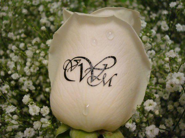 Monogrammed Rose