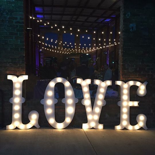 love sign at wyche pavilion pic