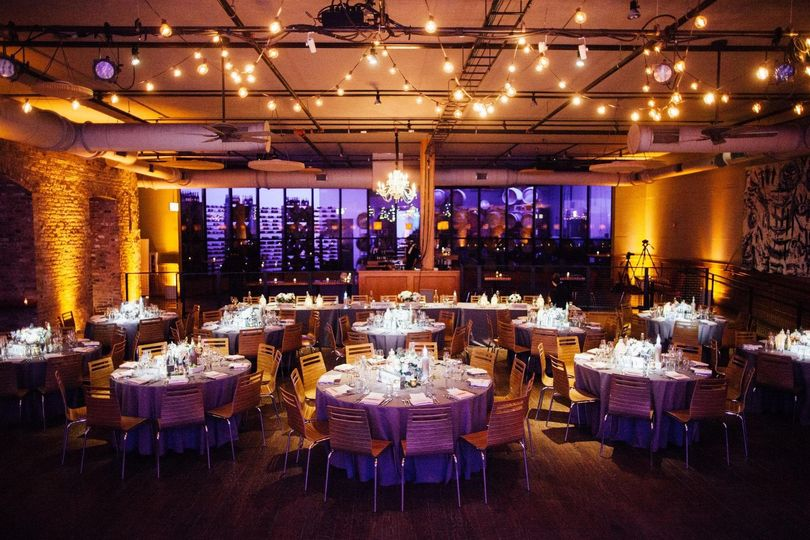 lighting for a city winery wedding photo by tim ta