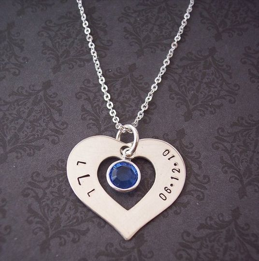Bridal Shower Gift - Hand Stamped Jewelry - Personalized Gift