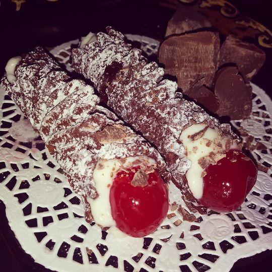 Chocolate with cherry pizzoli