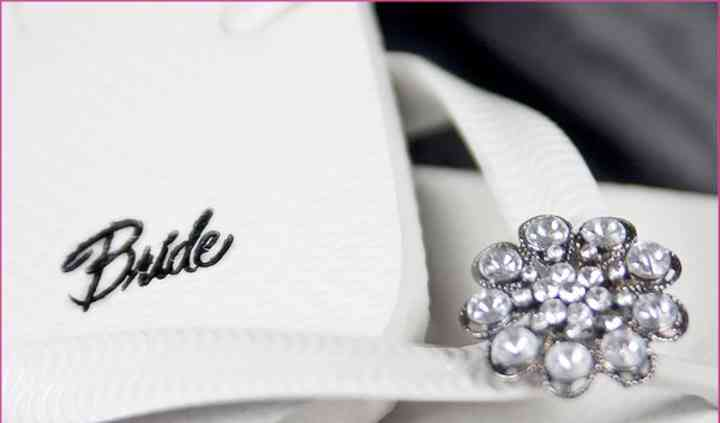 Footsie Charms Bridal Party Flip Flops