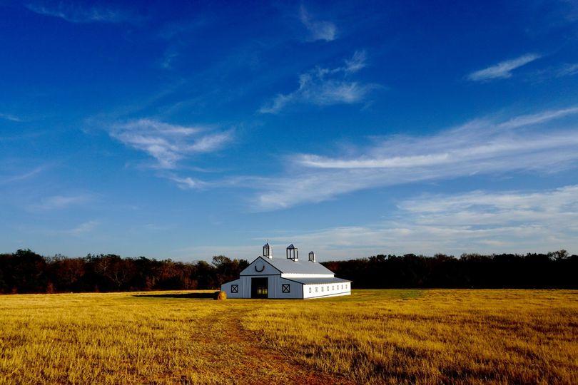 Peaceful hay fields