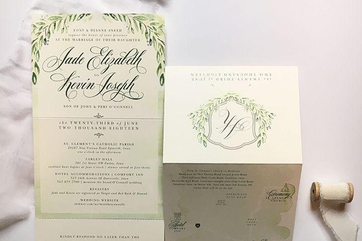 Custom tri-fold invitation