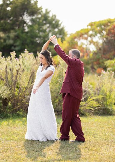 Practicing first dance
