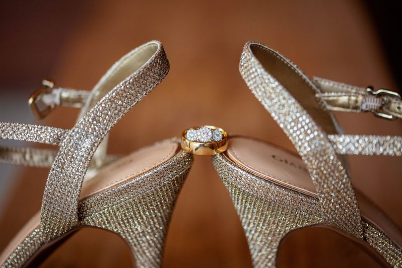 Ring details on shoes