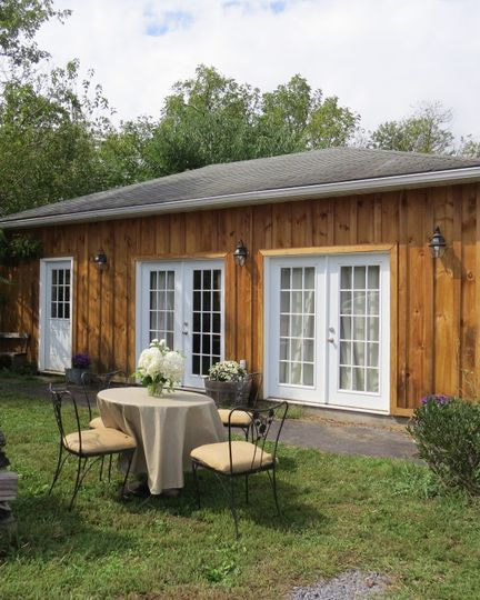 Bridal Cottage provides perfect area for bride and family.