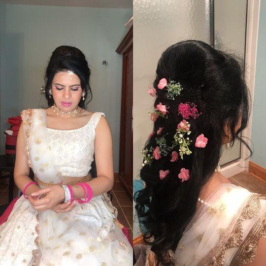 Sangeet - mehandi hairstyle,va