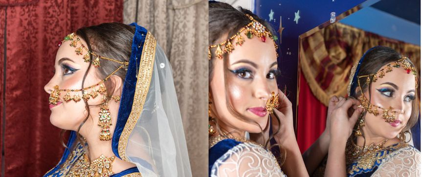 Stunning bridal look by shruti