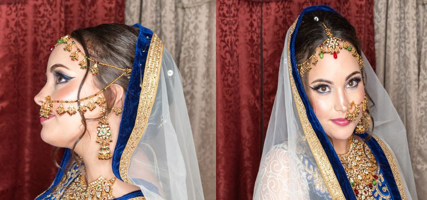 Amazing bridal look by shruti