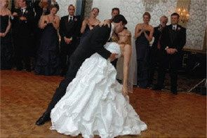 Kris and kate dip in their wedding dance routine!