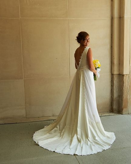 vintage redesigned wedding gown