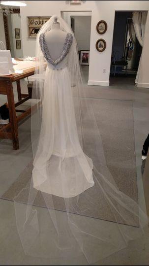 Light wedding veil