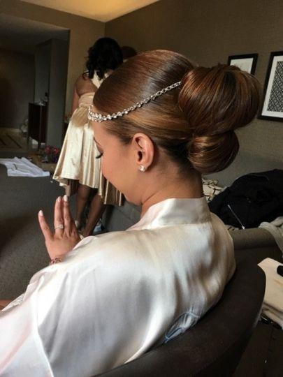 Royalty Hair Salon - bride getting ready