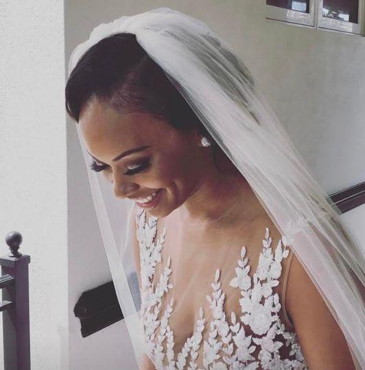 Royalty Hair Salon - happy bride