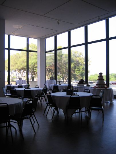 Our front gallery makes a beautiful place for a wedding reception!