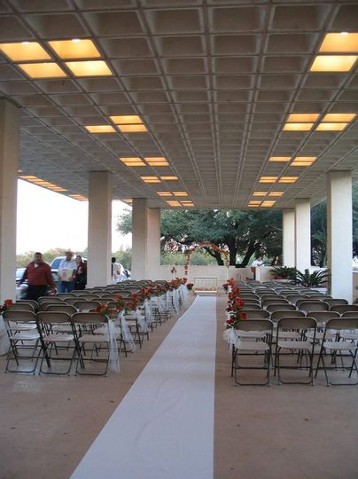 Wedding ceremony on the veranda