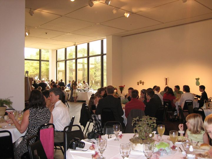 Wedding reception in the front gallery