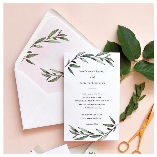 Blush pink invites