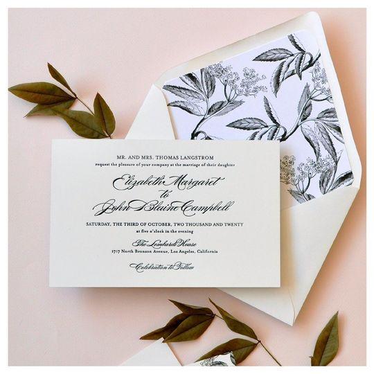 Pastel pink invitations