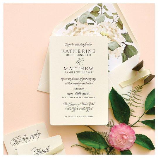 The floral invitation