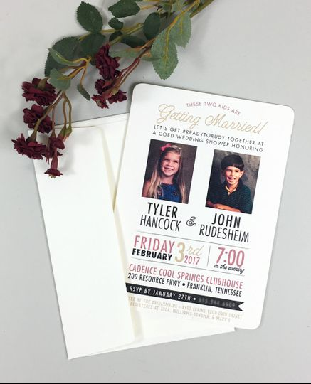 coed wedding shower invite