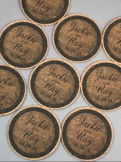 cork coaster favors whiskey barrel 51 412385