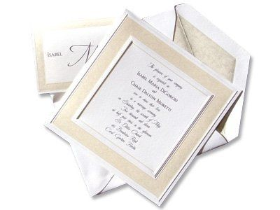 This bright white square card features a delicate border of pearl embossed filigree. All accessory...