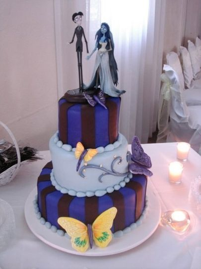 This couple wanted to create a Corpse Bride theme for the Groom's Cake. The flavor of the cake was...