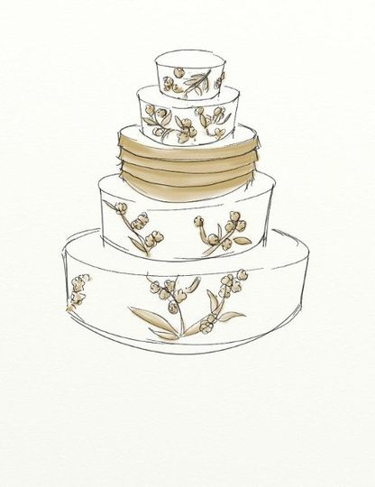 We recently instituted a policy of giving every bride a sketch of her cake, so that she can see the...
