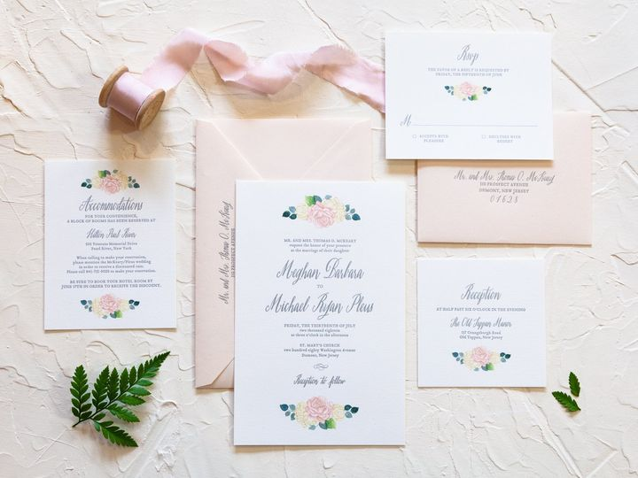Bright blush watercolor floral